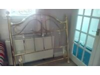 Free brass effect double headboard with fittings