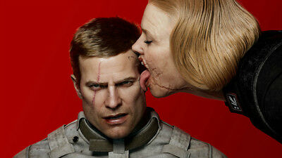 Wolfenstein ii the new colossus game Silk poster wallpaper 24 X 13 inches
