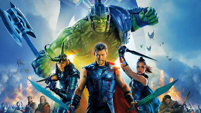 Thor Ragnarok Chris Hemsworth Hulk Loki Tes Silk Poster Wallpaper 24 X 13 Inches
