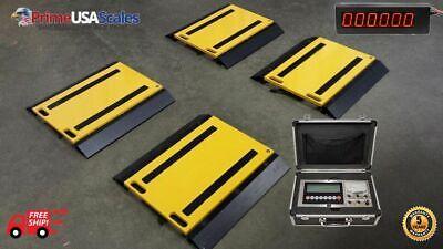 Optima Op-928 100000 Lb Scoreboard Display Printer 4 Pads Axle Car Wheel Scale