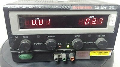 Sorensen Lm 30-6 Dc Power Supply