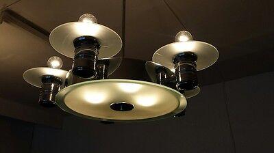 Original  große Deckenlampe -Art Deco - Bauhaus - Glas neu