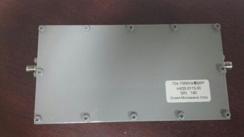 Orient Microwave HX00-0115-00 734-756MHz Filter