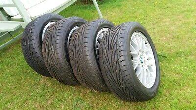 """Rare BMW Z3 E36 16"""" Alloys with as-new Toyo Tyres - 225 50 ZR 16 92W x4 BARGAIN"""
