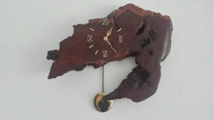 redwood clock - vintage