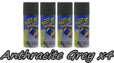 Performix Plasti Dip Anthracite Grey 4 Pack Rubber Coating Spray 11oz Cans
