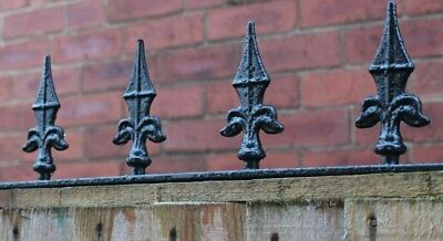Wrought iron fence / wall security spikes / decorative railings