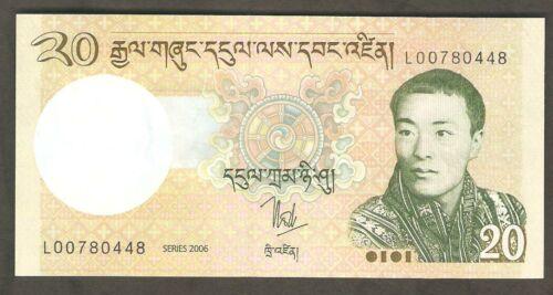 Bhutan 20 Ngultrum 2006 UNC