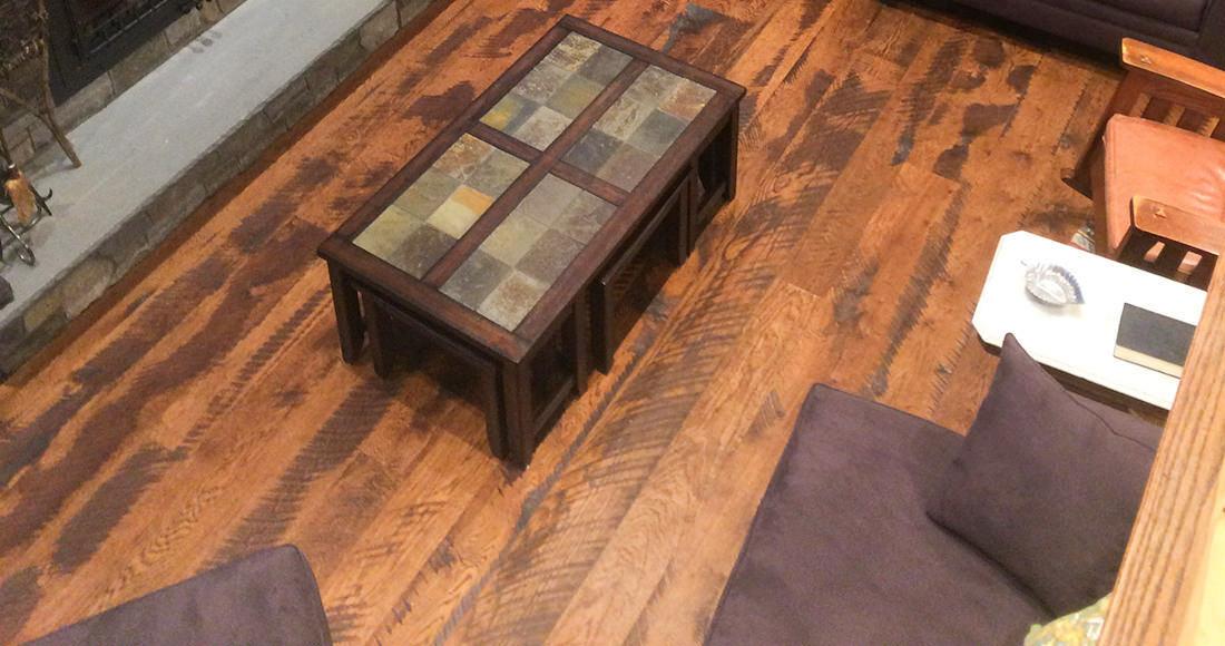 "Antique reclaimed/remilled Oak Hardwood Flooring 3/4"" x 4 1/"