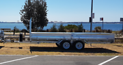 17x7 Flat Bed Galvanised 3500kg Flat Top Trailer Kurnell Sutherland Area Preview