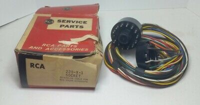 Vintage RCA Service Part 220-X-1 Socket Extension Cable For RCA Color Kinescope