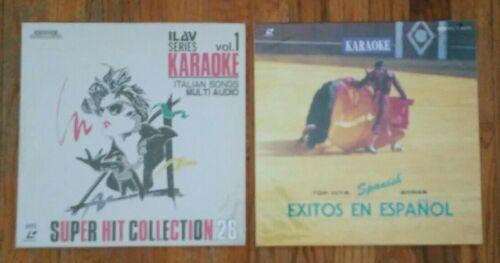 "Lot of 2 - 12"" Laser Disk Video Sing Along Karaoke Italian and Spanish"