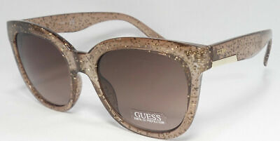 NWT GUESS GF0299 Light Brown Women's Sunglasses 100% UV Protection MSRP (Sunglasses Guess Women)
