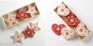 WOODEN-WOOD-HANGING-CHRISTMAS-DECORATIONS-ORNAMENTS-STAR-HEART-TREE-NORDIC-STYLE