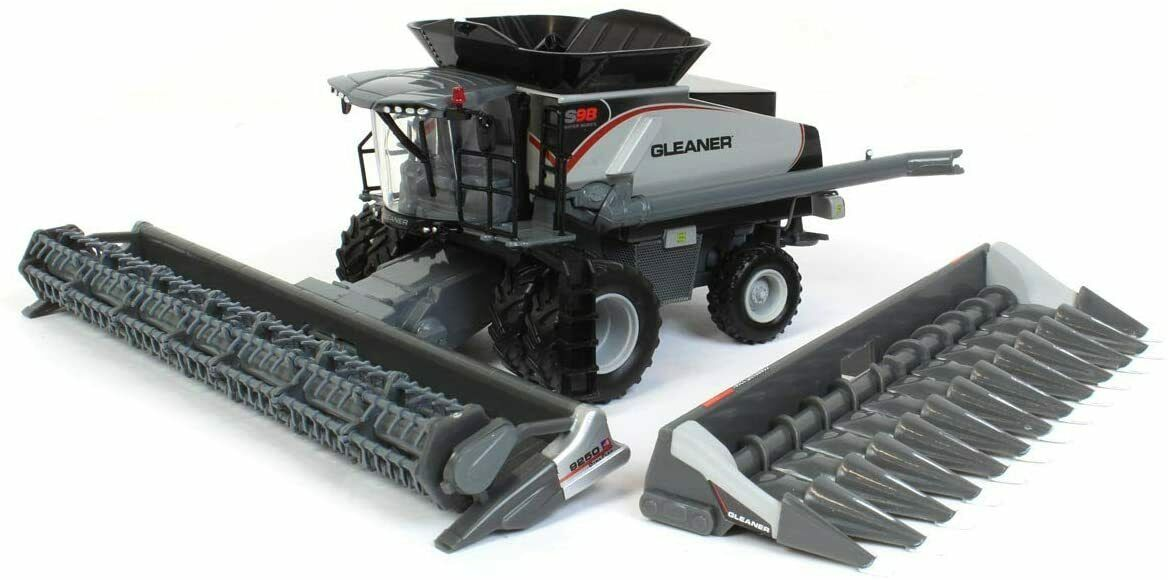 Gleaner S98 Combine with Corn and Grain Head 1:64 Model - Spec Cast SCT760*