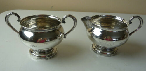 Antique Fisher Sterling Silver SUGAR CREAMER SET #705 weighted from 1951