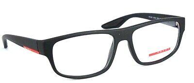 PRADA Herren Brillenfassung PS03GV DG0-1O1 55mm schwarz matt  Vollrand 151 126
