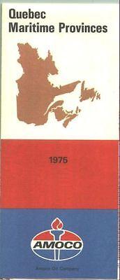 1975 Amoco Quebec/Martime Provinces Vintage Road Map