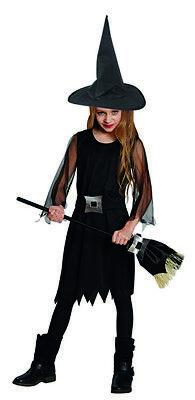 Kinder Hexe Kostüme (Hexe Hexenkleid schwarz Kinderkostüm)