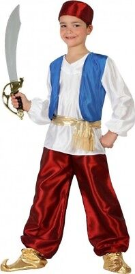 Costume Ragazzo Prince Aladin 10/11/12 Anni Bambino Guerriero Arabo Nuovo - Aladin Costumes