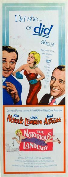 THE NOTORIOUS LANDLADY Movie POSTER 14x36 Insert Kim Novak Jack Lemmon Fred
