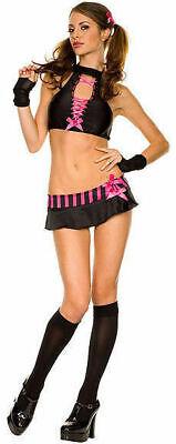 Hot And Sexy School Girl Costume Micro Mini Skirt Music Legs USA S/M, M/L - Hot School Girl Costume