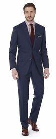 Men's T.M Lewin Modern Burnell Navy Suit Jacket 36S Matching Trousers 30L 30W