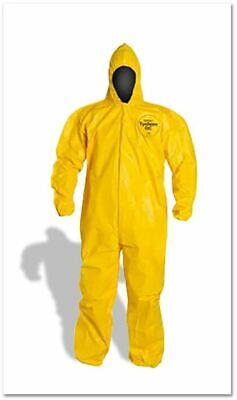 Dupont Tychem Tyvek Qc127 Yellow Coverall Chemical Suit W Hood 4xl