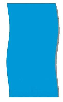 New Swimline 24' Solid Blue Round Above Ground Swimming Pool Overlap Liner