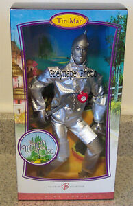 Wizard of Oz~ Barbie Tin Man & Scarecrow dolls New in Boxes!