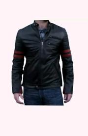 Mens italian real leather jacket