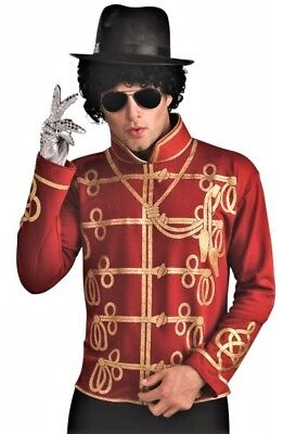 Michael Jackson Military Jacket Pullover Shirt Halloween Adult Mens Costume