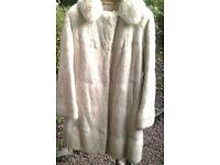 CHARITY SALE: Vintage fur coat (white cream colour)