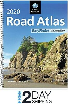 Rand Mcnally USA Road Atlas 2020 BEST Large Scale Travel Maps United States  ()