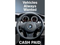 Spare or repairs cars wanted. Please