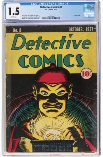 Detective Comics #8 (DC, 1937) Rare  Classic Mister Chang cover by Creig Flessel