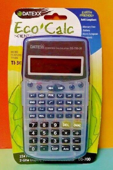 NEW Scientific Calculator DATEXX Eco Calc ds-700 224 Functions - More than TI-30