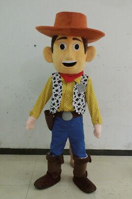 Halloween History Cartoon (2019  Toy Story Woody Adult Size Halloween Cartoon Mascot Costume Fancy Dress)