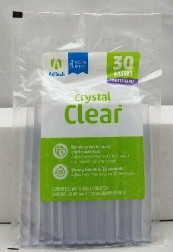 "AdTech 30 Glue Sticks Crystal Clear 4"" Multi-Temp Strong Bond for Full Sized Gun"