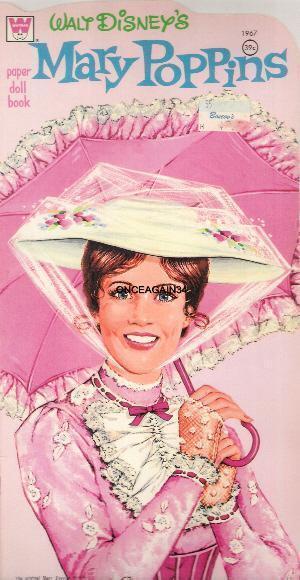 VINTAGE UNCUT 1962 MARY POPPINS PAPER DOLLS REPRODUCTION~NOSTALGIC SET~RARE!