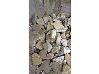 STONE FROM WALL ROCKS RUBBLE FOR GARDEN PROJECT OR ROCKERY
