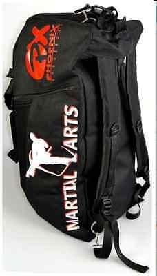 "Phönix- Sporttasche/Rucksack. ""Martial Arts"" 55x25x25cm. Training. Kampfsport."