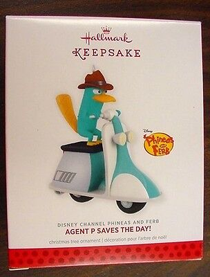 NIB 2013 HALLMARK ORNAMENT AGENT P SAVES THE DAY DISNEY CHANNEL PHINEAS & FERB