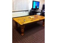 Solid Oak Wood Coffee Table Good Quality Very Sturdy Can Deliver