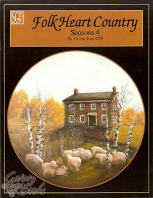 Folk Heart Country Vol 4 Elaine Law Painting Book NEW Lanscapes