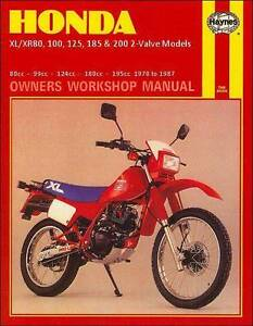 Honda xr 80 models in sydney region nsw gumtree australia free honda xlxr80 100 125 185 and 200 2 valve models 1978 1987 fandeluxe Gallery