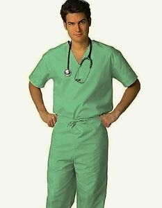 Mens Medical Nursing Doctor SCRUB SET Uniform Shirt & Pants NWT 30 COLORS!