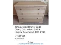 John Lewis 3-drawer chest, unused
