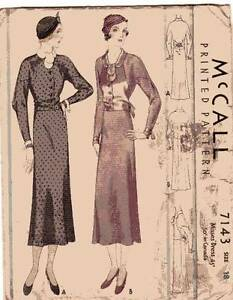 Rare Vintage 1930 Dress Pattern Melbourne CBD Melbourne City Preview