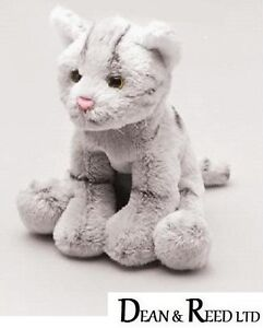 Yomiko Classics 12.7cm Grey Cat - Soft Toy by Suki Plush/Beanie
